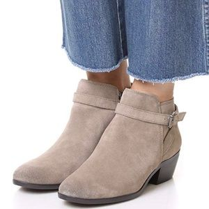 Sam Edelman Pirro Putty Suede Ankle Boots | Size 9